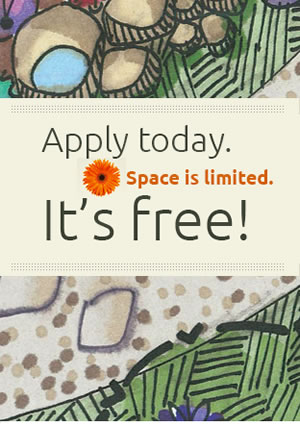 Apply today. It's free!